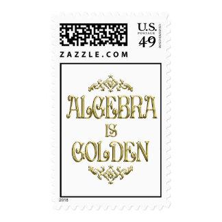 ALGEBRA is Golden Postage Stamps
