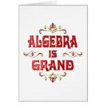 Algebra is Grand Greeting Card