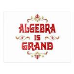 Algebra is Grand Postcard