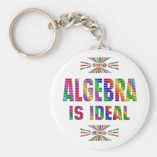 Algebra is Ideal Basic Round Button Keychain