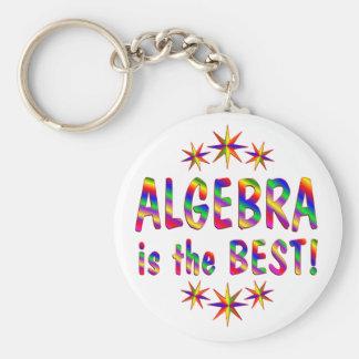 Algebra is the Best Basic Round Button Keychain