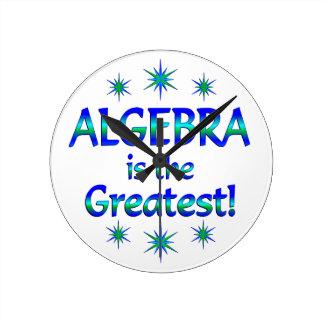Algebra is the Greatest Wall Clocks