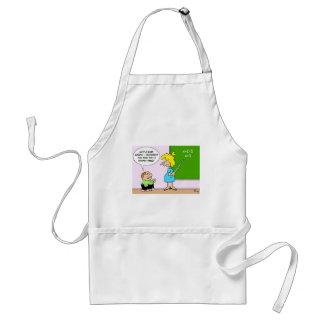 algebra kid teacher yesterday x equals two adult apron