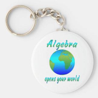 Algebra Opens Worlds Basic Round Button Keychain