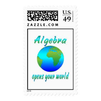 Algebra Opens Worlds Postage Stamps