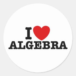 Álgebra Pegatina Redonda