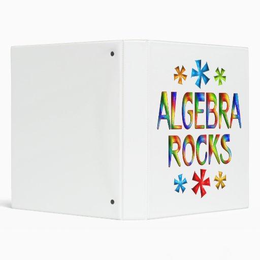 ALGEBRA ROCKS 3 RING BINDER