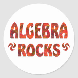 ALGEBRA ROCKS CLASSIC ROUND STICKER