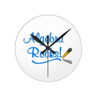 Algebra Rocks! Round Wall Clock