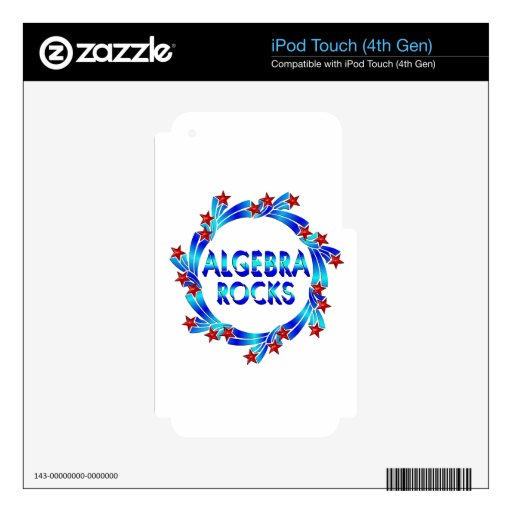 Algebra Rocks Fun Decal For iPod Touch 4G