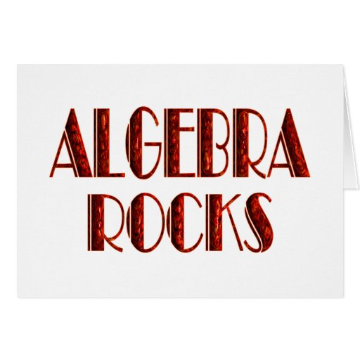 Algebra Rocks Greeting Card