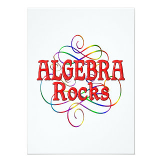 Algebra Rocks 5.5x7.5 Paper Invitation Card