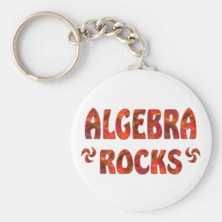 ALGEBRA ROCKS BASIC ROUND BUTTON KEYCHAIN
