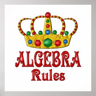 ALGEBRA Rules Poster