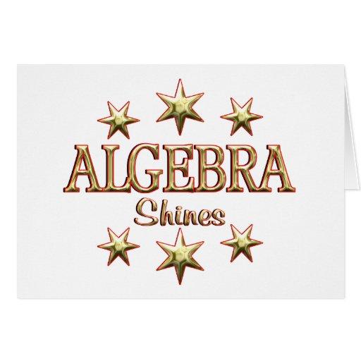 Algebra Shines Cards