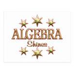 Algebra Shines Postcard