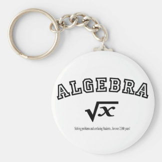ALGEBRA:  Solving problems and confusing students. Basic Round Button Keychain