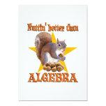 "Algebra Squirrel 5"" X 7"" Invitation Card"
