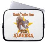 Algebra Squirrel Laptop Sleeves