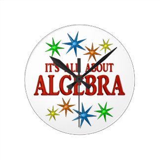 Algebra Stars Round Wall Clocks