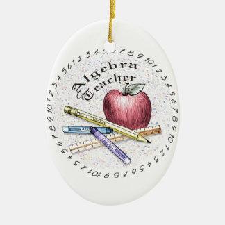 Algebra Teacher Ceramic Ornament