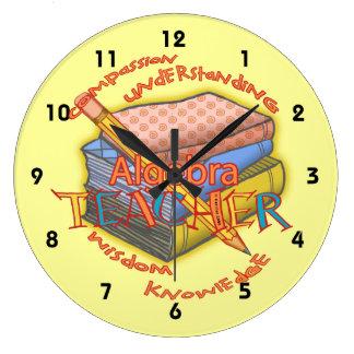 Algebra Teacher Motto Clocks