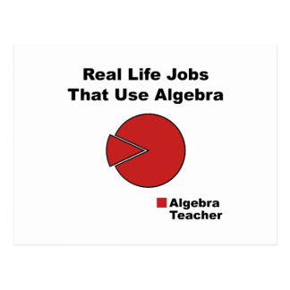 Algebra Teacher Postcard