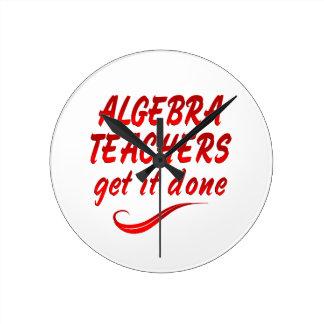 Algebra Teachers Wall Clocks