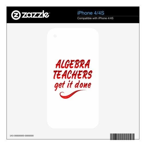 Algebra Teachers iPhone 4 Decals