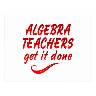 Algebra Teachers Postcard
