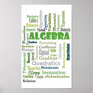 Álgebra (verde) póster