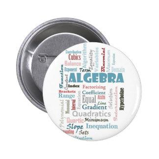 Algebra Vocabulary 2 Inch Round Button