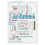 Algebra Vocabulary Card