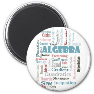 Algebra Vocabulary Magnet