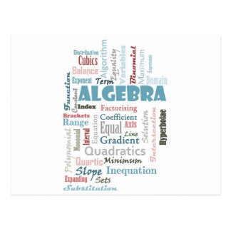 Algebra Vocabulary Postcard
