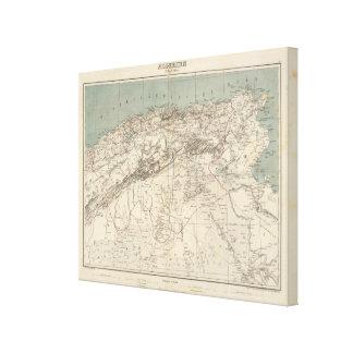 Algeria Atlas Map Canvas Print