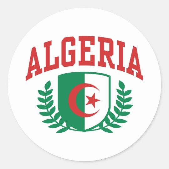 Algeria Classic Round Sticker