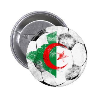 Algeria Distressed Soccer 2 Inch Round Button