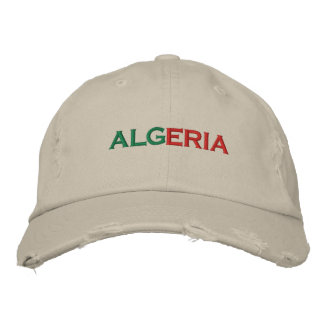 ALGERIA EMBROIDERED BASEBALL HAT