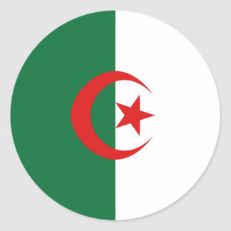 Algeria Fisheye Flag Sticker