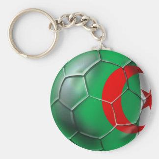 Algeria flag Algerian soccer ball soccer player Keychain