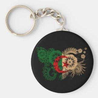 Algeria Flag Basic Round Button Keychain