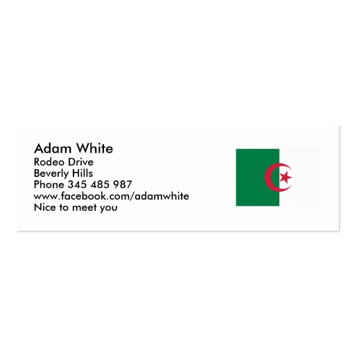 Algeria flag Double-Sided mini business cards (Pack of 20)