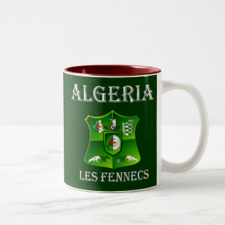 Algeria flag Les Fennecs Soccer Football shield Two-Tone Coffee Mug