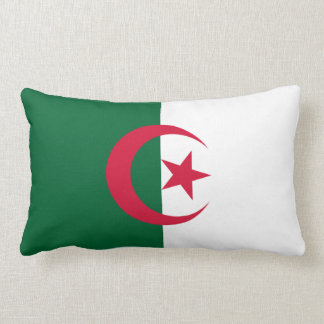 Algeria Flag Lumbar Pillow