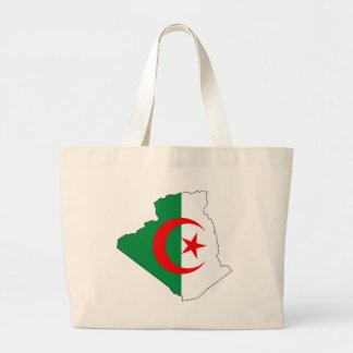 Algeria flag map DZ Jumbo Tote Bag