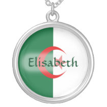 Algeria Flag   Name Necklace
