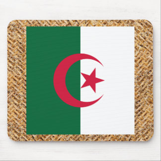 Algeria Flag on Textile themed Mouse Pad