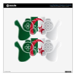 Algeria flag PS3 controller decals