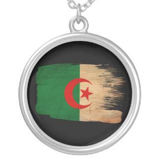 Algeria Flag Round Pendant Necklace